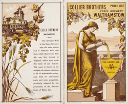 Advert for the Collier Brothers Brewery